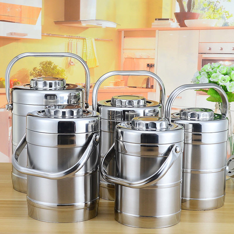 Large Capacity Insulated Thermos Lunch Box Stainless Steel Thermal Food Container Adult Picnic Bento Box Portable Lunchbox