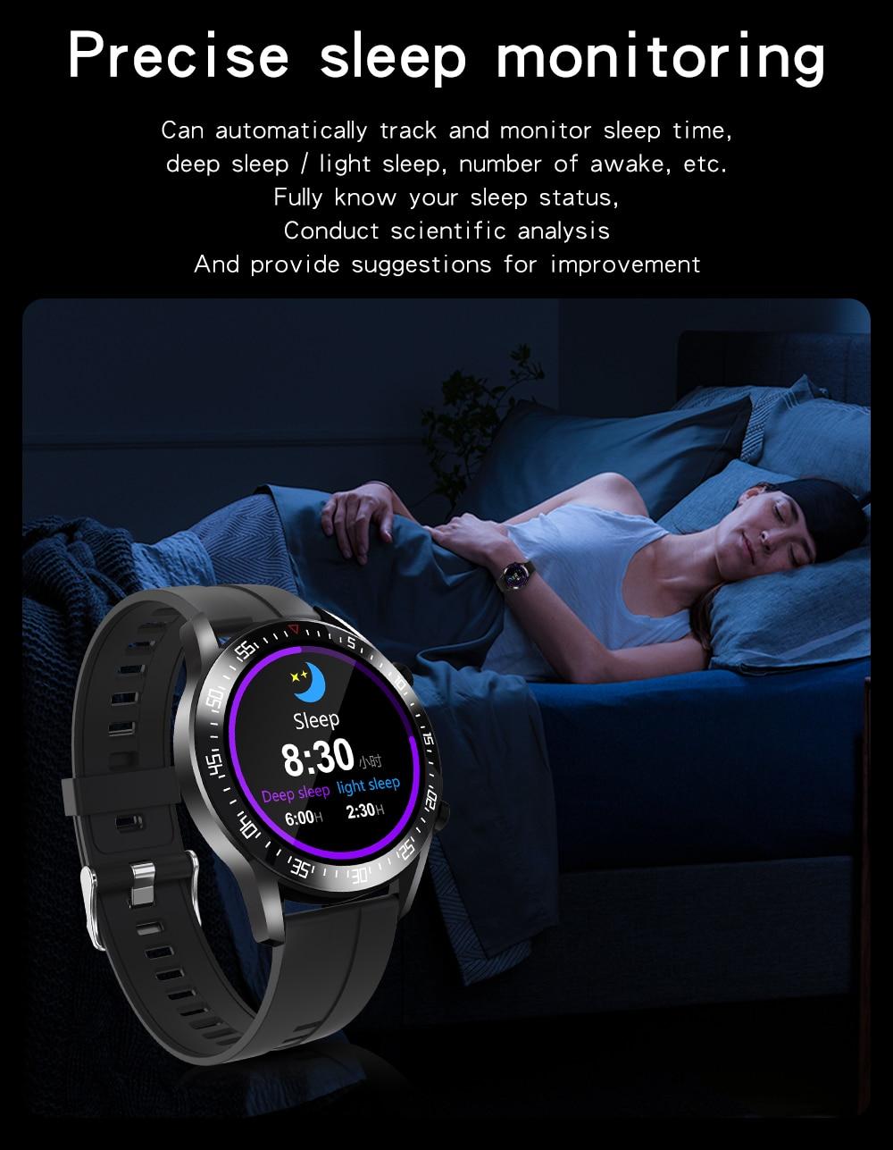 H005810fb23d2469997385b927ae6df78u XUESEVEN 2021 HD Full circle touch screen Mens Smart Watches IP68 Waterproof Sports Fitness Watch Fashion Smart Watch for men