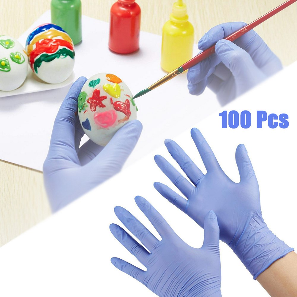 100 Pcs Kids Disposable Gloves Nitrile Gloves Painting Graffiti Gloves For 4-12 Years Latex Free Food Grade Powder Free