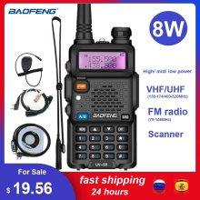 BAOFENG UV-5R 8W talkie-walkie Scanner Radio VHF UHF double bande Amateur jambon CB Radio émetteur-récepteur UV5R UV 5R 8watts Woki Toki(China)