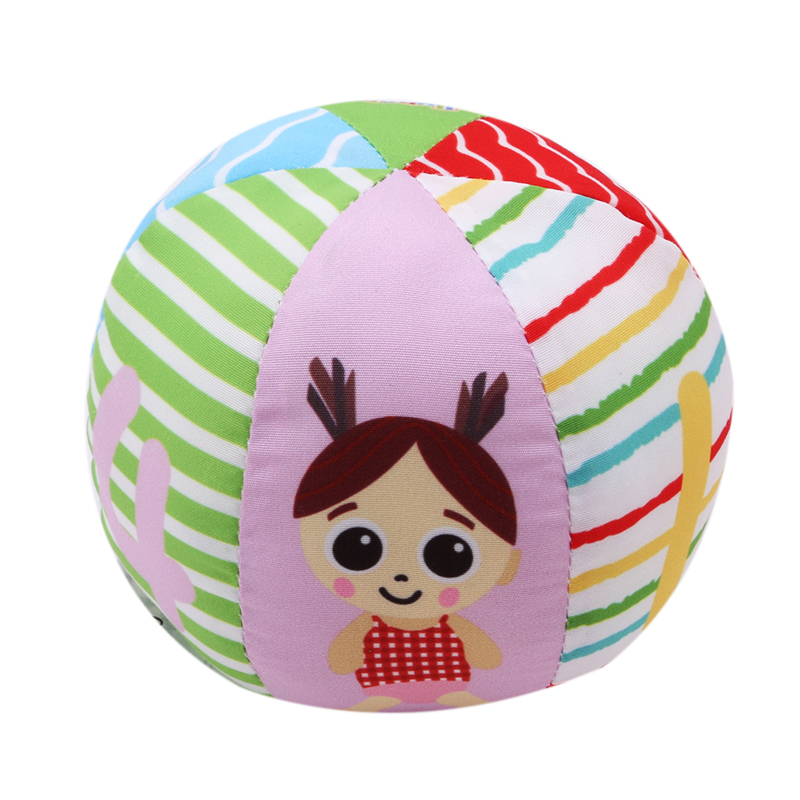 Round Ball Plush Rattles Baby Newborn Hands Catch Plush Bell Ball Toys Educational Gift For Kids 993904