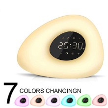 Alarm Clock Wake Up Light Digital Snooze Nature Night Lamp Clock Sunrise Colorful Light With Nature Sounds FM Radios