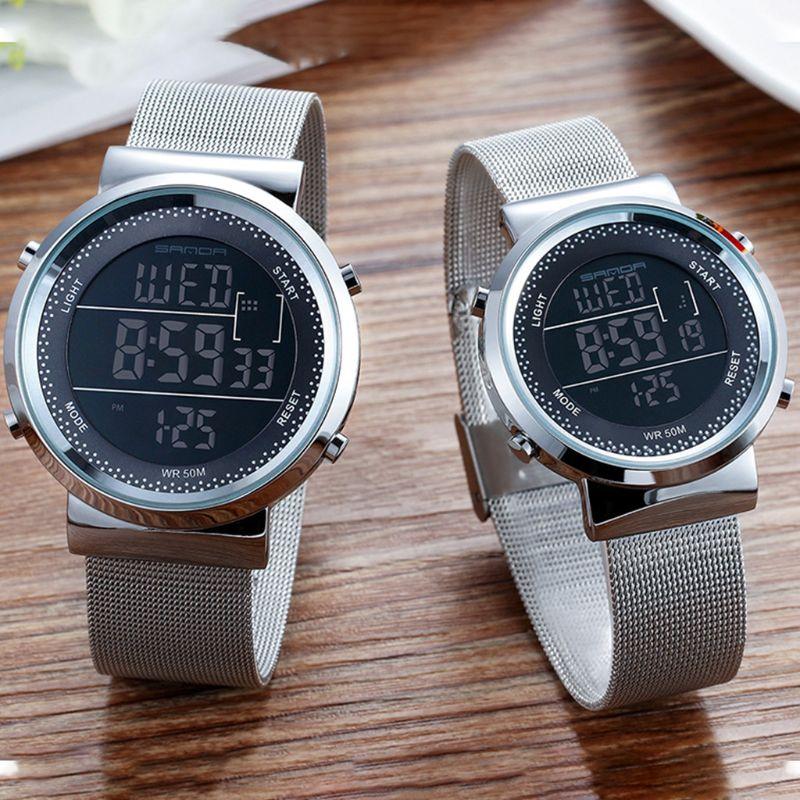Unisex Digital Watches Men Women Luxury Sports Waterproof Watch