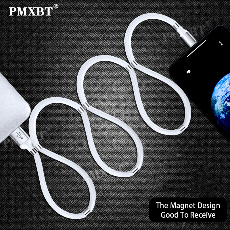 Magnetic Attraction Supercalla USB Cable Charging For Mobile Phone Fast Charge Micro USB Type C Cable Charger Magnet USB-C Cord