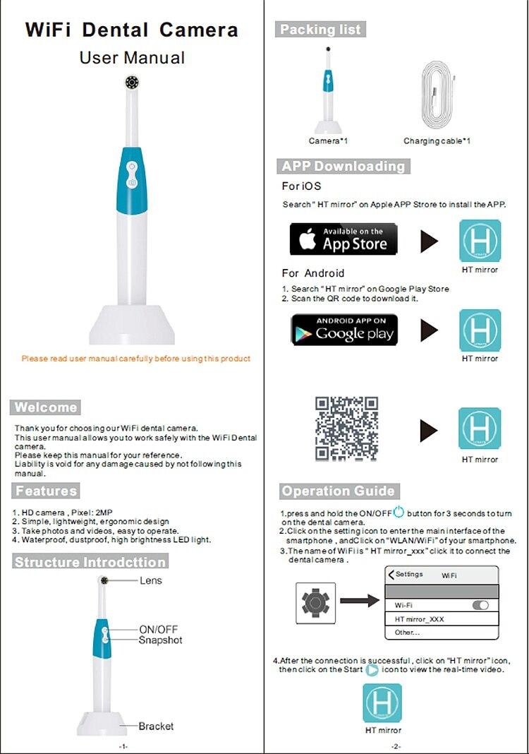 led inspeção de dente de luz para
