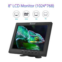 EYOYO EM08B 8 inch TFT LCD Color Monitor with VGA HDMI Video input interface IPS Screen Video PC CCTV DVR Car Camera Security