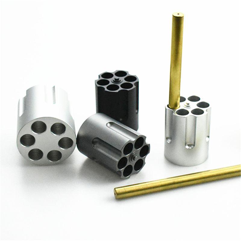 Gun Barrel, Revolver Pen Holder With 6 Bullet Pen Holders, Heavy Duty Non-slip Office Desk Pen Holder