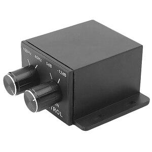 Novo Controlador de Regulador de Potência do Amplificador de Áudio Do Carro Subwoofer Baixo Equalizador Crossover 4 Ajustar O Nível de Linha Rca Amplificador De Volume