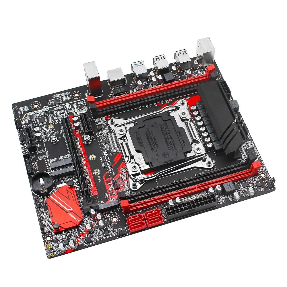 X99 desktop motherboard LGA 2011-3 set kit with xeon E5 2630L V3 processor and 16G(2*8G) DDR4 RAM memory mainboard X99-RS9 3