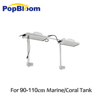 90 120cm PopBloom Aqua LED Aquarium Light Full Spectrum Lighting Reef Coral Tank SPS LPS Sunrise Sunset MJ3SP2