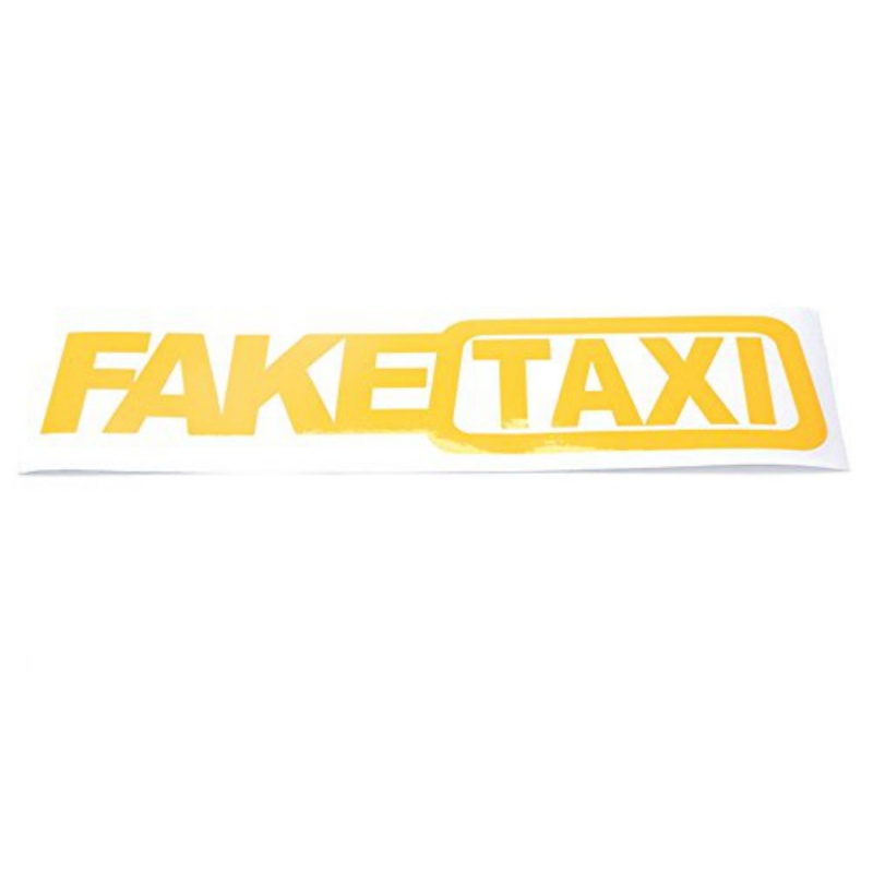 20cm x 4cm Fake Taxi ~ Funny Novelty ~ vinyl decal sticker