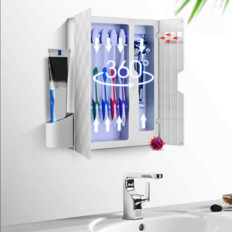 UV światło ultrafioletowe sterylizator szczoteczki do zębów szczoteczka do zębów uchwyt organizator dozownik wyciskacz zestaw do łazienki