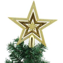 Christmas Tree Top Sparkle Stars Hang Xmas Decoration Ornament Treetop Topper Supplies New Year tree Decor