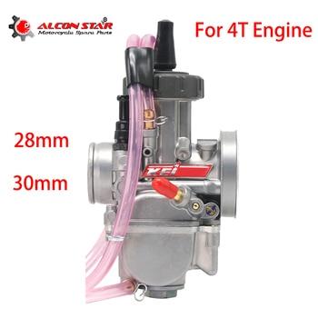 Carburador Alconstar de 28 30mm para motocicleta PWK Keihin Carb para 125cc - 250cc 4T, motor de cuatro tiempos, Moto Dirt Pit Bike