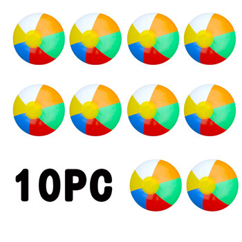 10pc 23CM Saleaman Colorful Inflatable Ball Balloons Swimming Pool Play Party Water Game Balloons Beach Sport Ball Fun Toys
