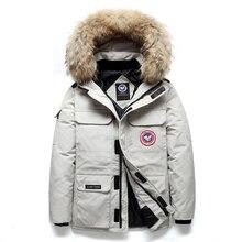NEGIZBER Down Jacket Women Men Thick Warm Windproof Fur
