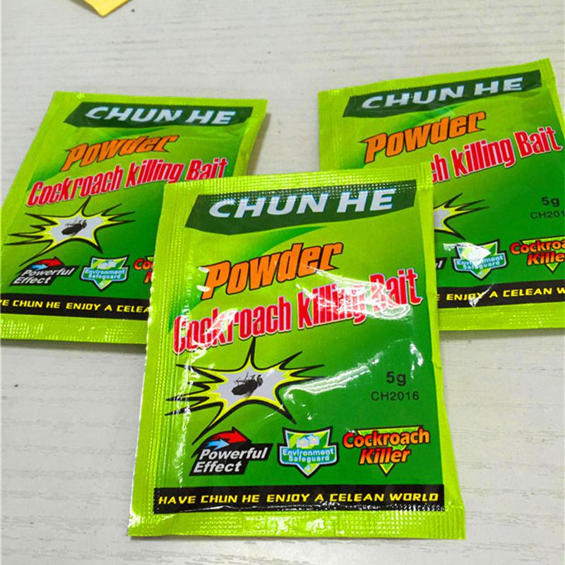 Купить с кэшбэком DishyKooker 50 Pack/Set Effective Insecticidal Powder Cockroach Killing Bait Roach Killer Miraculous Insecticide