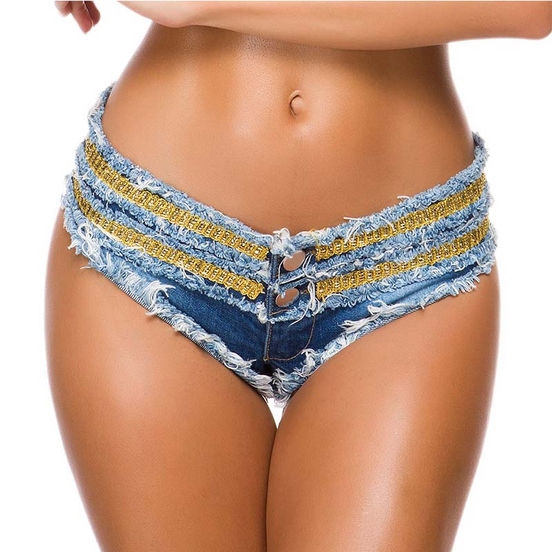 2020 New Fashion Summer Denim Shorts Jeans For Women Mini Super Bandage Low Waist Ladies Club Sexy Shorts Ripped Booty Hot Short