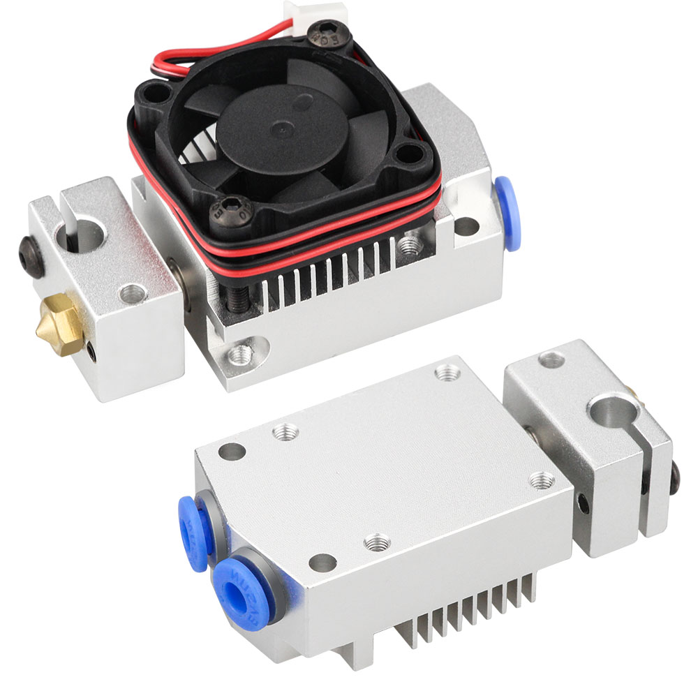 Upgraded 12v/24v Cyclops Multi-color Extruder 2 In 1 Out 2 Colors Hotend Bowden With Titan / Bulldog Extruder F/ 3D Printer