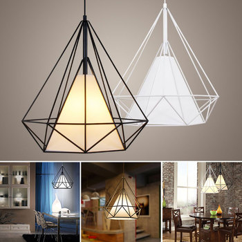 Modern Pendant Light Black Iron Hanging Cage Vintage Led Lamp E27 Industrial Loft Retro Dining Room Restaurant Bar Counter creative industrial wind style pendant light personality retro rope iron cage pendant lamp for restaurant bar clothing store