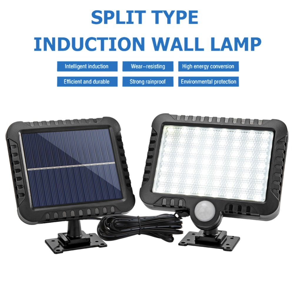 COB Wall Mounted Solar Outdoor Light with 120LED and Motion Sensor Suitable for Street and Garden 29