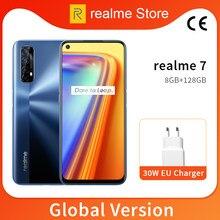 Realme 7 8GB 128GB Celular 6,5 '' 90Hz Helio G95 Octa Core 48MP Quad Câmera 5000mAh 30W Dart Charge
