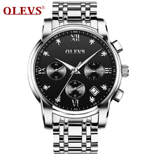 2019 New Watches Men Luxury Brand OLEVS Calendar Business Waterproof Full Steel Quartz Mens Watch Relogio Masculino