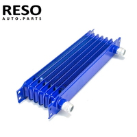 Oil Cooler Universal 7 Row AN10 Engine Transmission Trust Oil Cooler 10AN 10 Blue|Oil Coolers| |  -