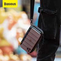 Baseus saco digital à prova dusb água cabo usb cartão sd fone de ouvido saco de armazenamento do telefone móvel bolsa organizador saco acessórios de viagem sacos