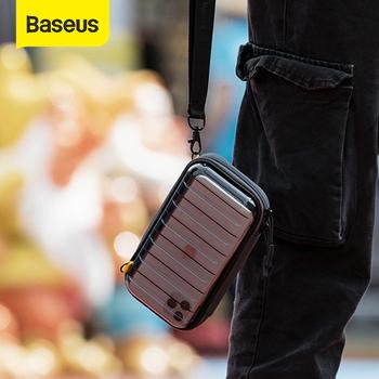 Baseus wodoodporna torba cyfrowa kabel USB karta SD słuchawka do przechowywania telefonu komórkowego torba pokrowiec organizator torba akcesoria podróżne torby tanie i dobre opinie Shockproof storage bag Apple iphone ów IPhone 3G 3GS Iphone 4 IPHONE 4S Iphone 5 Iphone5c Iphone 6 Iphone 6 plus IPHONE 6S