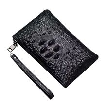 Men Fashion Leather Clutch Long Wallet Alligator Pattern Card Holder Purse Handbag Zipper Bag цена в Москве и Питере