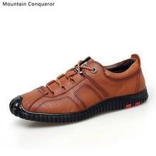 Mountain Conqueror Autumn Casual Lace Up Shoes Men Microfiber Basic Luxury Flats Brand Hot Sale Fashion 2019