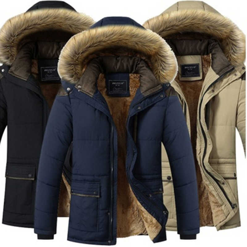 Plus Size 5XL Winter Windproof Parkas Men Solid Parkas Cotton Padded Men Casual Jackets Thicken Coats OverCoat Warm Clothes