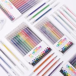 18Pcs Quicksand Colorful Glitter Gel Pen Changing Flash Colors Kawaii Drawing Scrapbook Album Journal DIY Stationery School