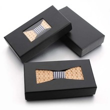 Knit Ties Wooden Bow-Tie Mens Accessories Neck Boxes Quality