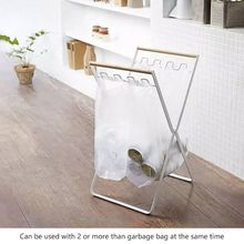 Wrought Iron Kitchen Storage Rack Accessories Folding Garbage Stand Living Room Balcony Bag Bracket