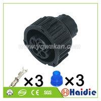 무료 배송 2sets 3pin 자동 케이블 플라스틱 봉인 된 센서 플러그 배선 방수 커넥터 1-967325-2