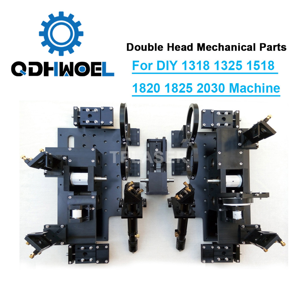 Double Head Laser Mechanical Components For DIY Large Format CO2 Cutting Engraving Machine 1318 1325 1518 1525 1820 1825 2030