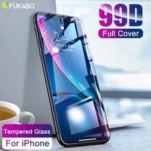 99D couverture complète pour iPhone 11 verre trempé 8 protecteur d'écran XR pour X XS 12 Pro Max 7 6 6s Plus SE 2020 Film dur transparent incurvé