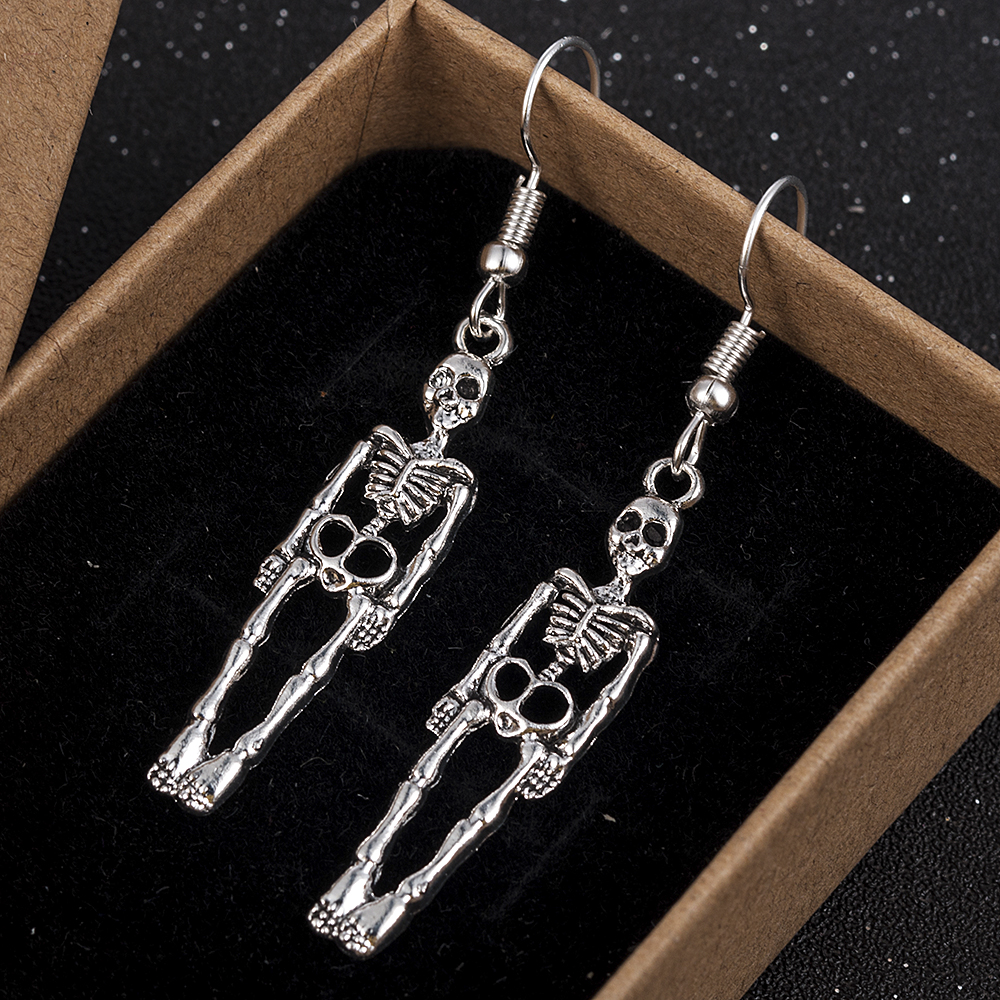 Halloween Vintage Skeleton Skull Dangle Earrings For Women Jewelry Party Gifts Aretes De Mujer Modernos 2019