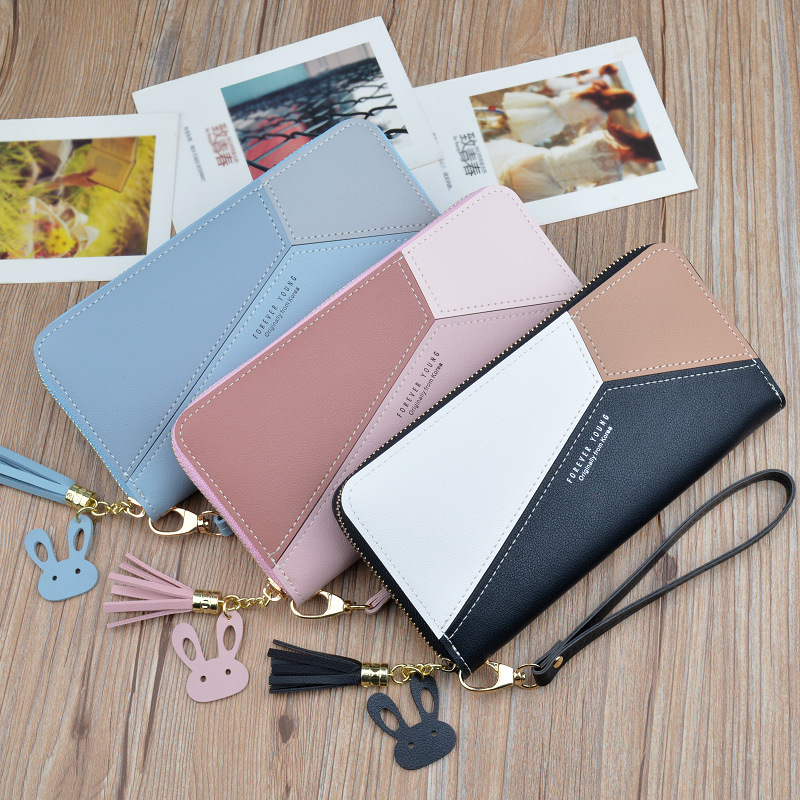HEFLASHOR 2020 New Women Long PU Leather Purse Card Holder Zipper  Clutch Coin Purse Lady Coin Purse Money Bag Carteira Feminina