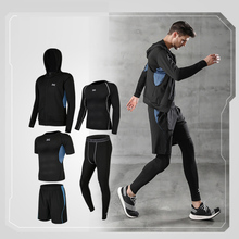 Men's sportswear sportswear exercise stretch breathable clothing compression gym clothes fitness running training jogging suit sport suit women fitness clothing running sets polyester breathable ladys sportswear zip pocket training jogging sportsuit