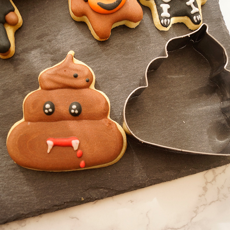 Stainless Steel Cookie Mold Poop Shape Fondant DIY Mold Set Source Manufacturer of Small Wholesale 7105