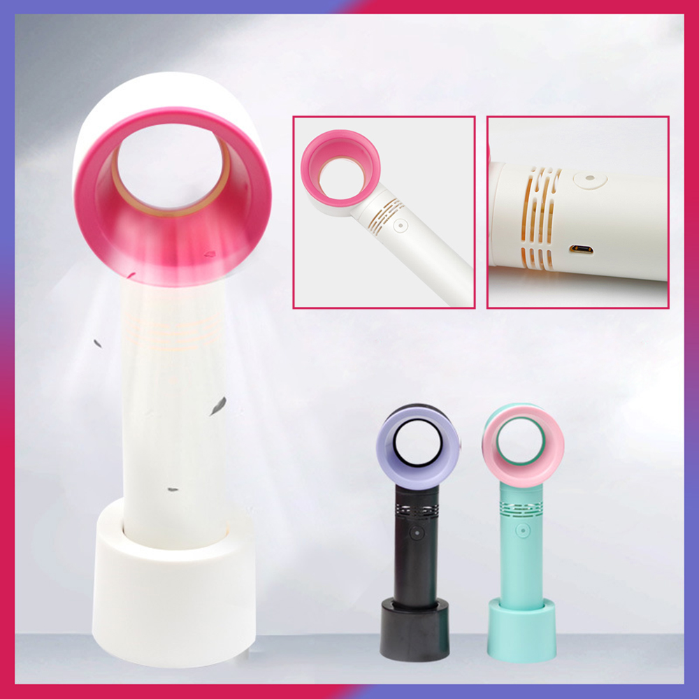 Eyelash Hair Dryer Grow Eyelash Dryer Beauty Eyelash Leafless Fan USB Charging Handheld Mini Fan
