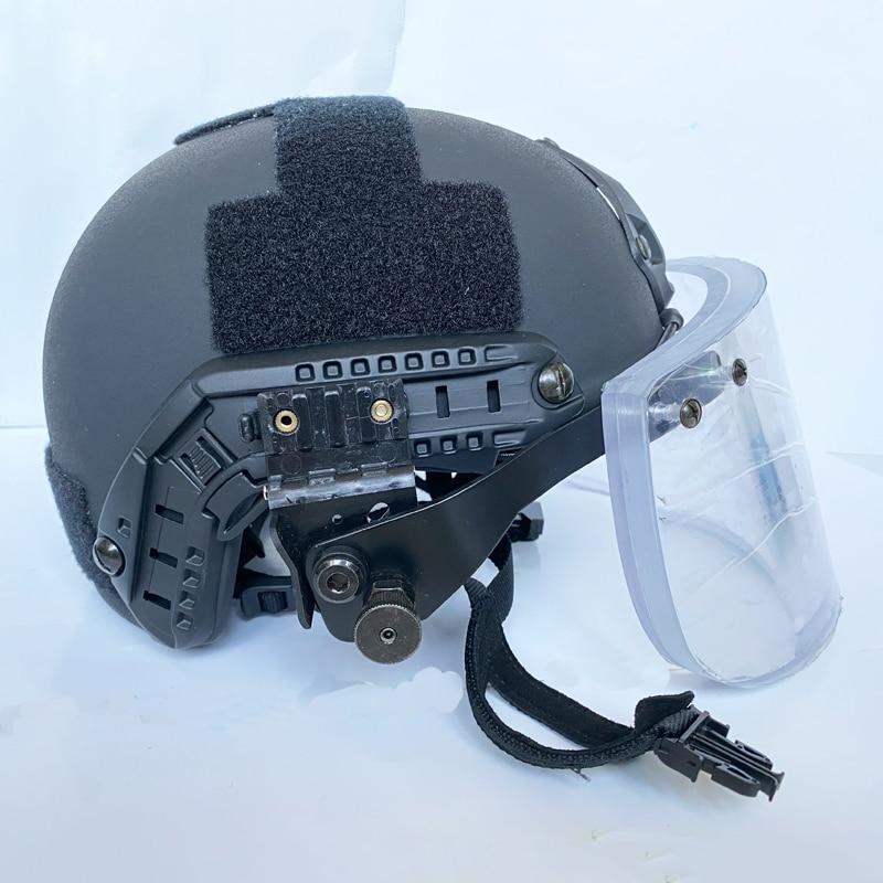 Bulletproof Helmet+mask NIJ IIIA Visor For ACH FAST Military Tactics Bullet Proof Fbi Swat Police Self-defense Safety Equipment