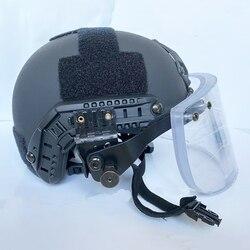 Casque pare-balles + masque NIJ IIIA visière pour ACH tactique militaire rapide pare-balles Fbi swat police auto-défense équipement de sécurité