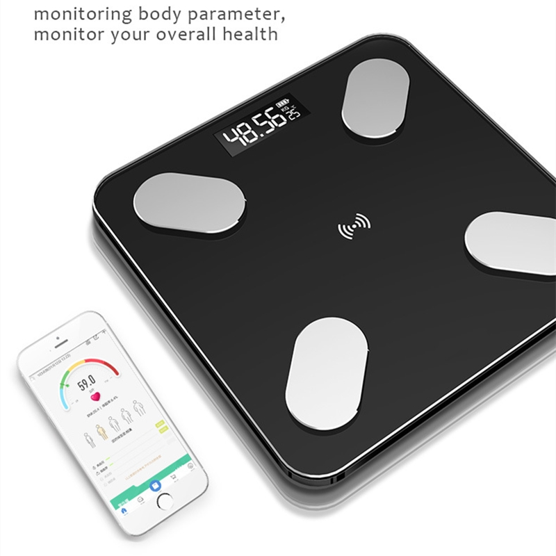 Body Fat Scale Smart BMI Scale LED Digital Bathroom Wireless Weight Scale Balance Bluetooth APP Android IOS