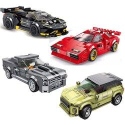 Racing Car City Speed Champions Sports Building Blocks DIY Bricks Classic Technic Super Racers Vehicles f1 compatible legoed