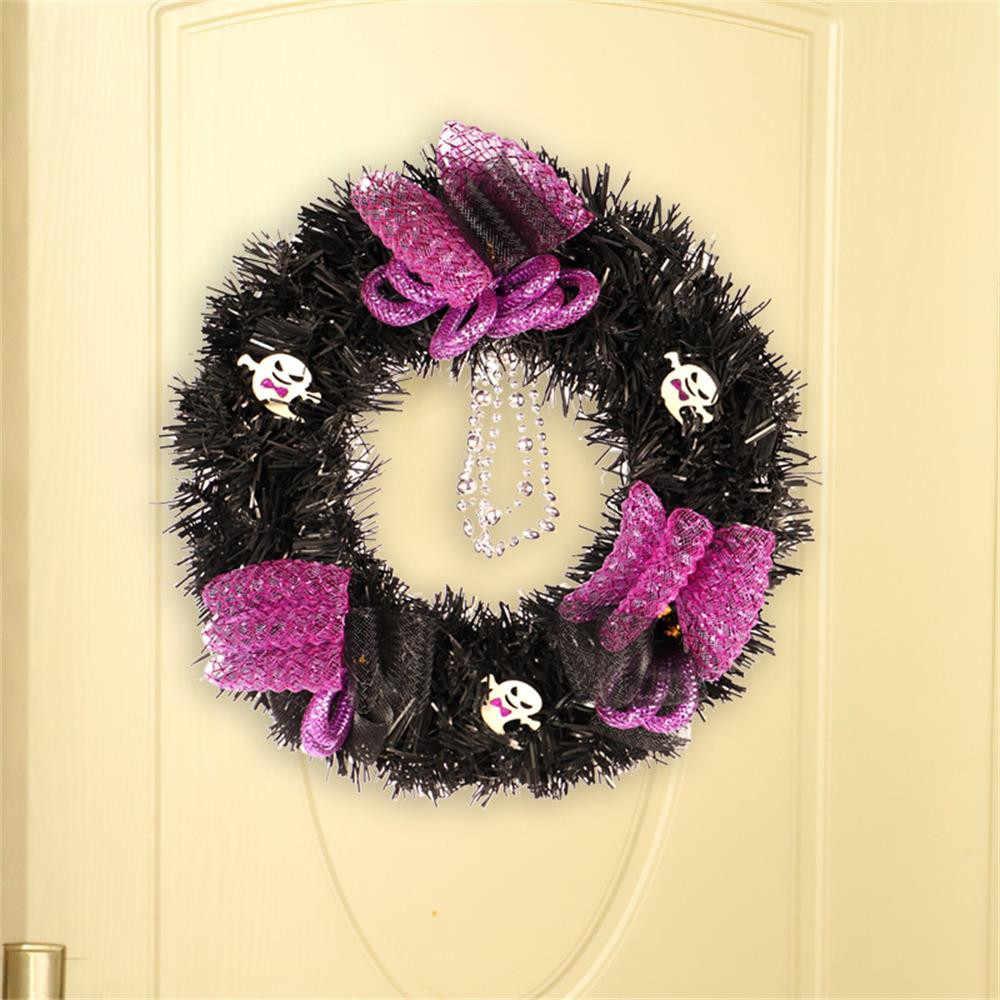 20 Вт, 30 см Рождественский венок рождественское большой венок на дверь настенное украшение гирлянды поддельные фрукты сосны Рождественский Декор для дома