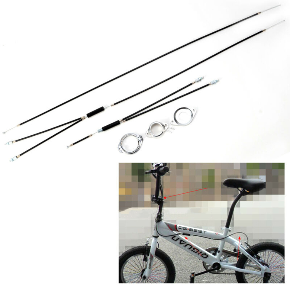 1 Set Of Bicycle Gyro Cables Brake Spinner Rear Or Front Spinner Black